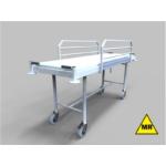 Kórházi betegszállító kocsi - MR kompatibilis, fix magasságú, 150mm egyedi fékes kerekekkel