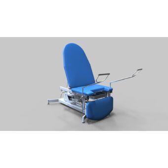 Nőgyógyászati vizsgálóasztal, 3 részes, elektromos/hidraulikus magasság állítású
