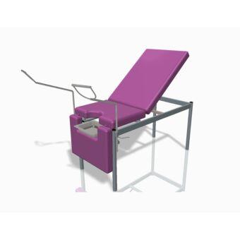 Nőgyógyászati vizsgálóasztal, 3 részes - rozsdamentes