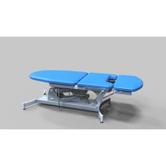 Proktológiai vizsgálóasztal, 3 részes, elektromos magasság állítású - porfestett