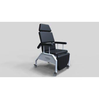 Gondozó szék, felnyitható kartartó - porfestett/rozsdamentes
