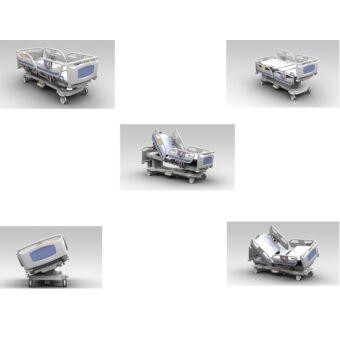 Andrew R352 intenzív kórházi ágy, vezeték nélküli, analóg vezérlésű, digitális mérleggel
