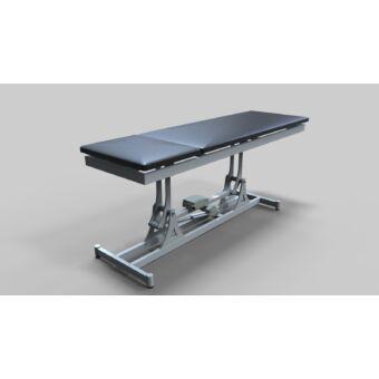 Tech-medical elektromos állítható magasságú vizsgáló asztal, kétkaros, rozsdamentes - hidraulikus