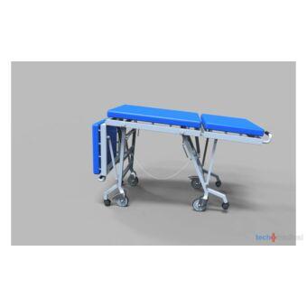 Összecsukható helytakarékos betegszállító kocsi/vizsgálóasztal - rozsdamentes