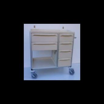 Fiókos-polcos tároló / Szállító kocsi 89-6 fiókos
