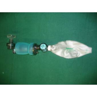 GaleMed MR-100 bag valve mask for children, 600-ml reservoir, NEW