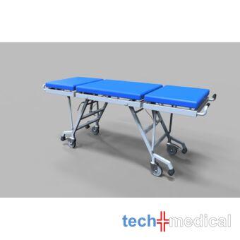 Összecsukható helytakarékos betegszállító kocsi/vizsgálóasztal - porfestett/rozsdamentes