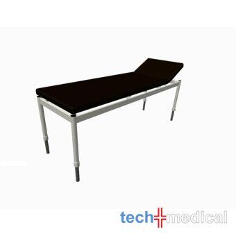Tech-medical állítható magasságú vizsgáló asztal, egykaros, 2 részes, hidraulikus- rozsdamentes