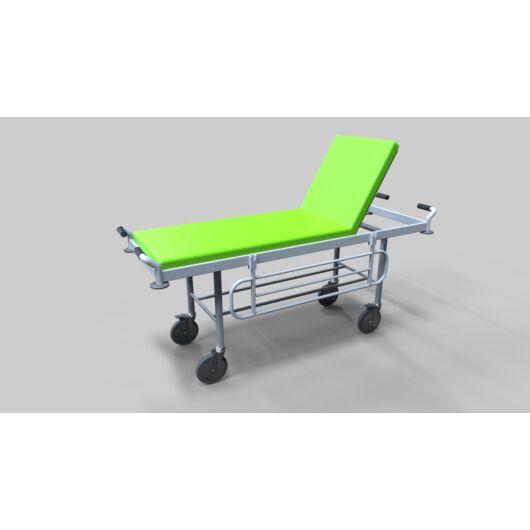 Kórházi betegszállító kocsi, fix magasságú, kerékkel