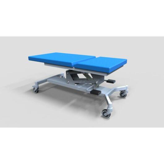 Tech-medical általános állítható magasságú vizsgáló asztal, egykaros, rozsdamentes - hidraulikus