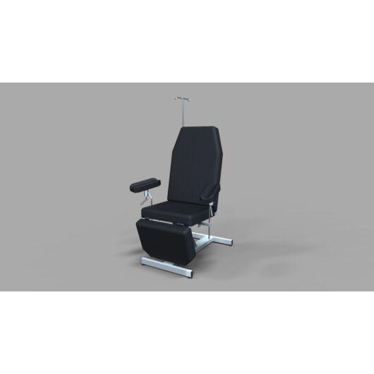 Tech-medical állítható magasságú vérvételi szék, rozsdamentes - hidraulikus