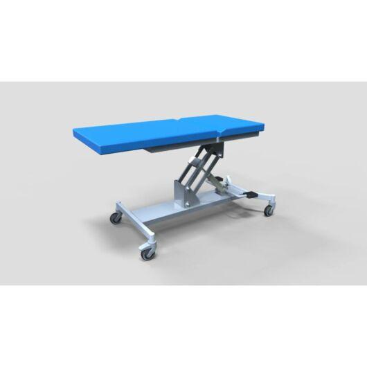 Tech-medical általános állítható magasságú vizsgáló asztal, egykaros, rozsdamentes - elektromos