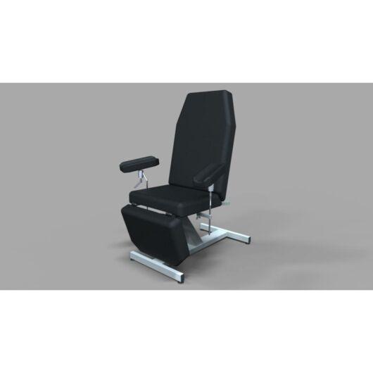 Tech-medical állítható magasságú vérvételi szék, rozsdamentes - elektromos