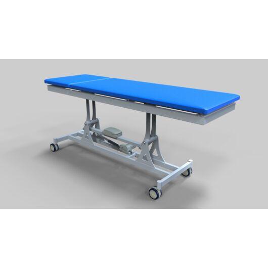 Tech-medical elektromos állítható magasságú vizsgáló asztal, kétkaros, porfestett - elektromos