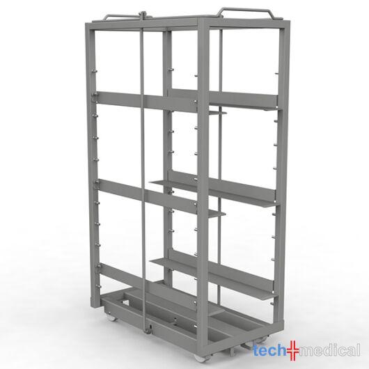 Rozsdamentes steril szállító polcállvány